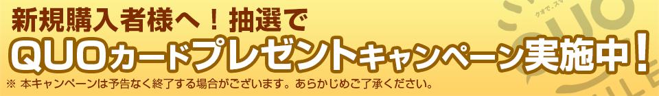 QUOカードプレゼントキャンペーン実施中!